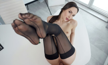 Teacher Fuck - Fit Brunette Babe POV