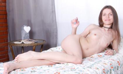 Masturbation Fantasy in a Girl's Dorm; Thin and Fit Babe Solo