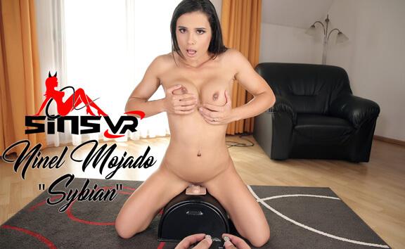 Ninel Mojada - Sybian; Cute Brunette Rides Toy