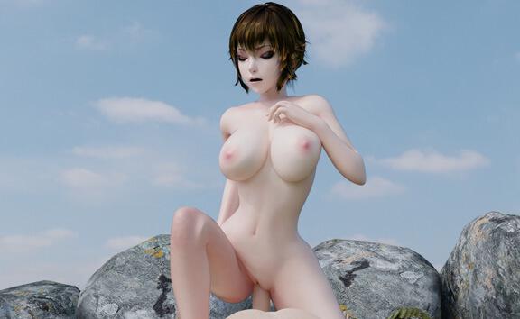 Reina Public Cowgirl - Busty VR Anime