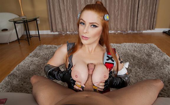 Overwatch: Brigitte A XXX Parody - Hardcore Redhead Cosplay