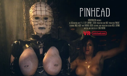 Pinhead - Busty Cosplay Threesome Horror