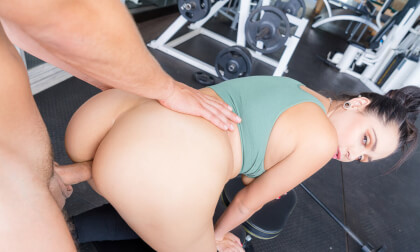 CUMpound Exercises - Natural Tits Workout Sex