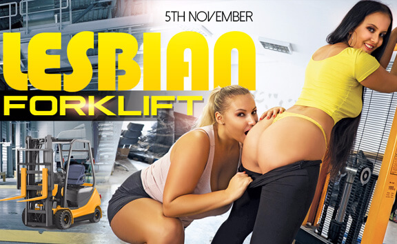 Lesbian Forklift - BBW with Skinny Girl