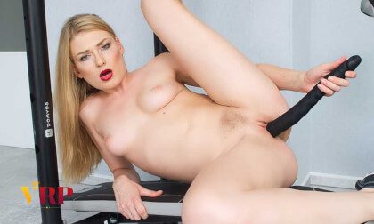 Dirty Workout - Petite Blonde Exercise Toying