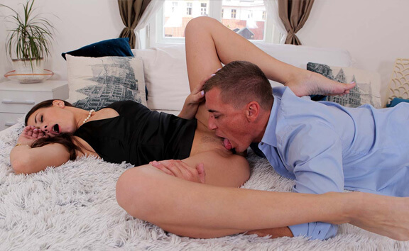 The Smell Of Sex - Voyeur - Brunette with Small Tits Riding
