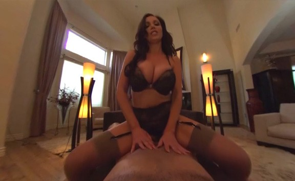 Nikki Benz rides big dick in POV