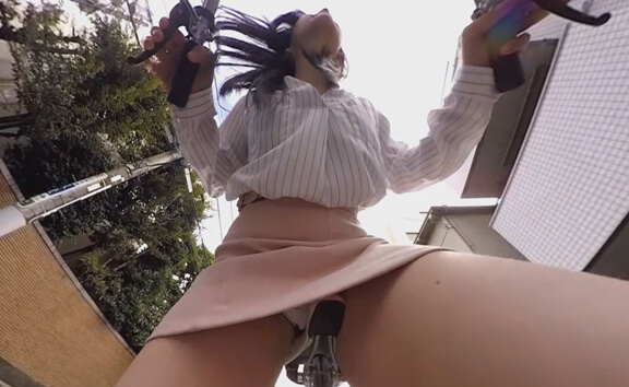 Schoolgirls on Bicycles Upskirt VR Part 2 - Hidden Camera Voyeur