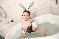Bathroom Play with Sexy Rabbit Cosplay VR porn