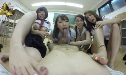 Erina Sugisaki, Nanami Mizusaki – Bossy Office Ladies Creampie Sex; Orgy POV