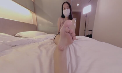 Cute Asian Wants to Feed You Her Feet 1