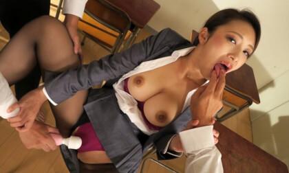 Reiko Kobayakawa – My Extra Lewd Teacher Part 1 - JAV MFM Threesome POV