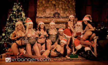 Santa's Naughty Elves (Part 1) - Pornstar Orgy POV