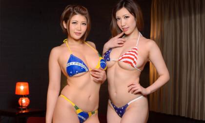 Mizuna Wakatsuki, Yuuri Oshikawa – Voluptuous Bikini Double FUCK!! - Big Tits JAV