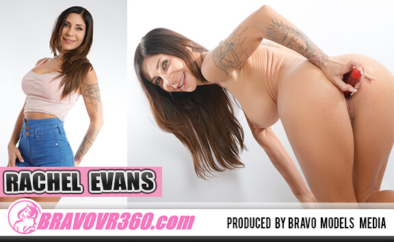 Shaved Rachel Evans and Her Vibrator - Busty Pornstar Toying