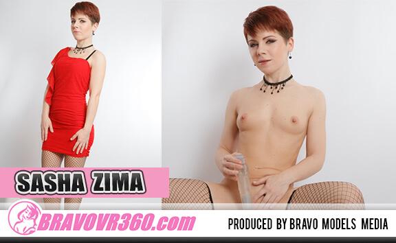 Sasha Zima Hammers Her Pussy - Petite Teen Toying