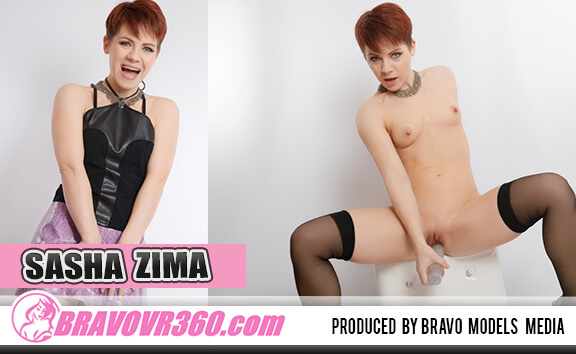 Teen Sasha Zima Toying - Petite Redhead in Stockings