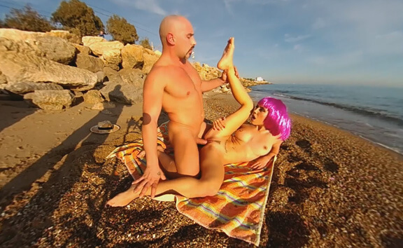 Pussy Pounding at the Beach