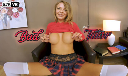 Bad Tutor - Big Tits Shaved Schoolgirl