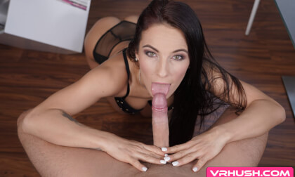 I Hope You Brought Some Pizza - Brunette Pornstar POV