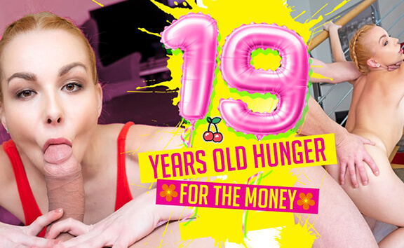 19 Years Old Hunger For The Money - Sexy Teen POV