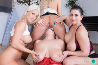 Fivesome with Huge Tits VR porn