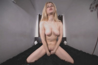 Blonde Angel Playing with the Glass Dildo VR porn