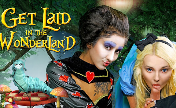 Get Laid In The Wonderland - Threesome Cosplay
