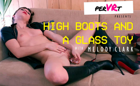 High Boots And A Glass Toy
