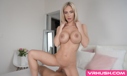 Put Down Your Work For A Second! - Busty Blonde Pornstar