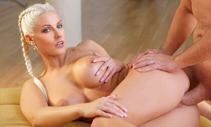 The Cockstant Gardener - Busty Blonde Pornstar POV