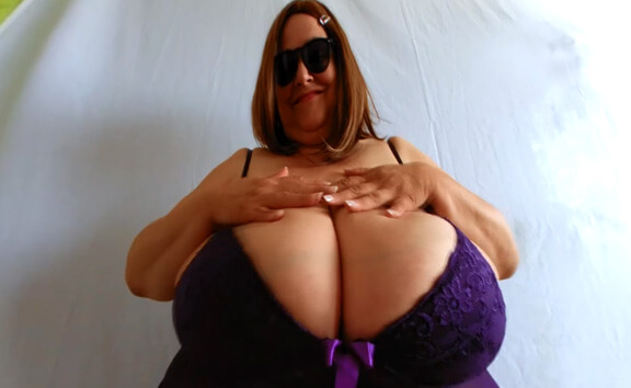 Big Naked Giantess Maja on the Sofa / Lotion for Maja's Big Breasts; Huge Tits BBW