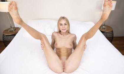 Please, Fuck Me; Skinny Blonde Pornstar