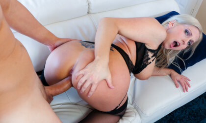 Big Tit Jerk Off Instruction; Busty Blonde MILF Sex