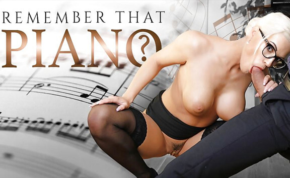 Remember That Piano - Busty Blonde Pornstar