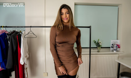 Dressed For Pleasure - Busty Babe Solo