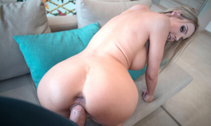 Huge titted Florane Russel riding your cock to orgasm - Busty Blonde POV