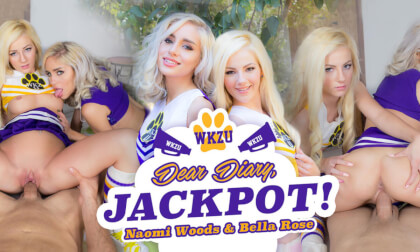 Dear Diary, Jackpot! - Teen Cheerleaders FFM Threesome