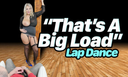 That's A Big Load Lap Dance; Blonde BBW