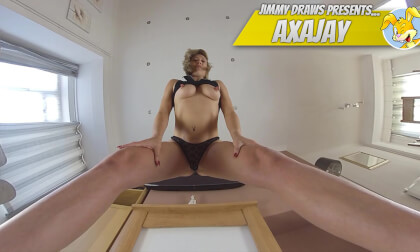 AxaJay, British Girl Enjoys Face-Sitting Fun; Blonde Fetish