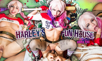 Harley's Fun House - Blonde Cosplay Riding
