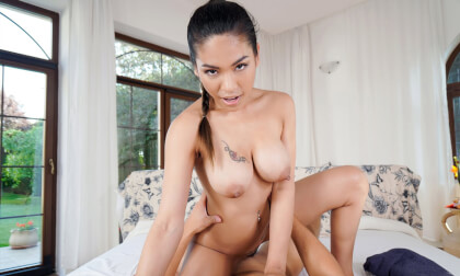 Namaste Horny - Big Tits Asian Porn Star POV