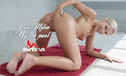 Lola Myluv - By the Pool; Solo Blonde in a Bikini
