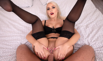 Interesting Agreement - Blonde Anal POV; wife blowjob footjob anal