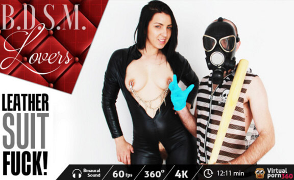 BDSM Lovers: Leather suit fuck!