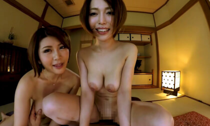Mio Kimijima & Yuuri Oshikawa – Detour Off the Fans Thanksgiving Day Bus Part 5; Japanese MILF FFM Threesome
