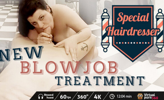 Special Hairdresser: New Blowjob Treatment - Curvy Latina Riding